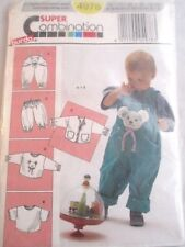 Burda Sewing Pattern no. 4978. Super combination Toddlers clothing.