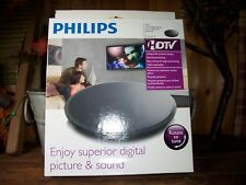 PHILLIPS INDOOR DIGITAL ANTENNA SWIVEL DESIGN TURNS TO TUNE HDTV COAXIAL CABLE