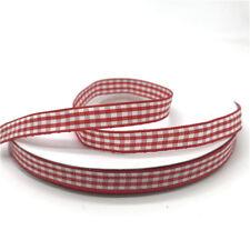 5yards 10mm Plaid Grid Printed Ribbon For Home Bow Wedding Christmas Decoration
