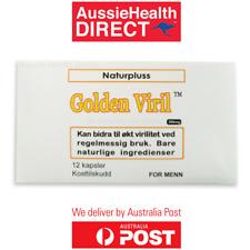 Sexual Stamina capsules GOLDEN VIRIL Premature Ejaculation Delay pills 12PK AUS