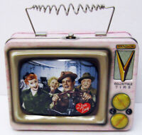 1999 VANDOR TIN TOTE TV TELEVISION LUNCHBOX I LOVE LUCY LUCILLE BALL DESI ARNAZ