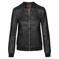Timberland Mount Ellen Woven Leather Jacket Damen Lederjacke A16OI Leder neu