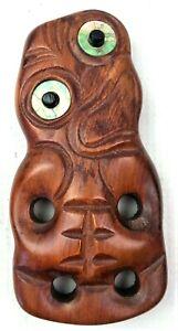 "Tiki 5"" Moana Wood Carvings Rotorua New Zealand Handcrafted NZ Timber Maori"
