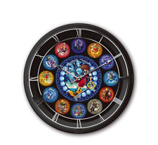 "Disney Kingdom Hearts I II III Lighting Quartz Wall Clock Stained Glass 11.02"""