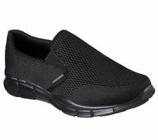 Mens Skechers Double Play Casual Memory Foam Slip on Shoes Sizes 8 to 11 UK 9 Black