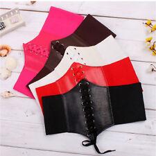 Hot Women Extra Wide High Waist Slimming Waistband Belt Tight Elastic Corset Tie