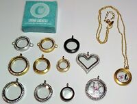 Origami Owl Living Lockets-Gold, Silver, with and without Cubic Zirconia Crystal