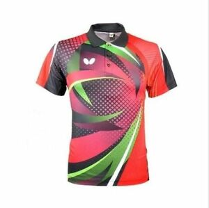 Free shipping men's Tops table tennis clothing Badminton Only T-shirt