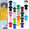 Women's Premium Polo Shirt - Fruit of The Loom Lady-Fit smart/casual cotton top