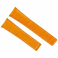 20MM LEATHER WATCH STRAP BAND FOR TAG HEUER CV-2013 CAY2111 CAF101A ORANGE WS