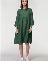 """🌱🍃🌱 【NEW 】 Gorman Green """"GROWERS"""" Linen Smock Curve Day Dress SZ 16-18 XL"""