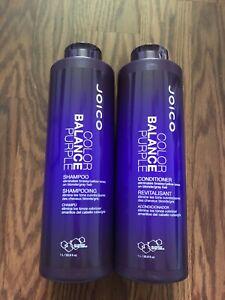 JOICO Color Balance Purple Shampoo & Conditioner 1L 33.8 Fl Oz