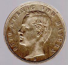 """5 Mark Bayern 1904 D """"König Otto"""" - Jäger Nr. 46 in ss/vz"""