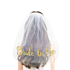 Bride to be Wedding Veil For Bridal Shower Bachelor Party Supplies Decoration
