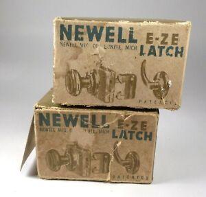 Vintage Newell E- Ze Latch Screen or Storm Door Doorknob Latch - Made In USA
