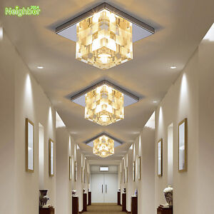 New LED Crystal Ceiling Lamp Hallway Porch Light Fixtures Home Indoor Lighting