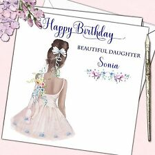 Personalised Birthday Card Girl Ballerina Ballet Grand Daughter Niece 5 6 7 8 9