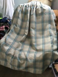 "Pair Of Dunelm Lined Tartan Curtains 90""W X 54"" L"