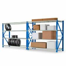 Baumr-AG 1.5m x 2m Metal Warehouse Racking Storage Garage - 2 Pack