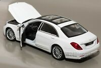 Mercedes-Benz S-Class White, Welly 24051, scale 1:24, adult car modelgift