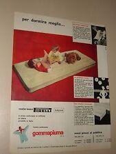 PIRELLI MATERASSO SAPSA GOMMAPIUMA=ANNI '50=PUBBLICITA=ADVERTISING=WERBUNG=605