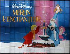 MERLIN L'ENCHANTEUR Affiche Cinéma GEANTE 4x3 WIDE Movie Poster DISNEY