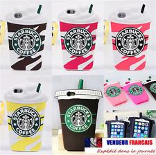 Coque iPhone Samsung 3D Starbucks Ice Cream café SILICONE Case HOUSSE Protection