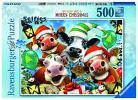 Ravensburger 16532 Buon Natale Selfies-We Wish Moo a Merry Christmas 500 Piece