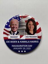 "2021 President Joe Biden Vice President Kamala Harris 3"" Inauguration Day Button"