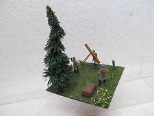 MES-39547 1:72 Artillerie-Stellung Minidiorama bemalt,