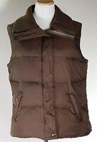UGG Australia Women's Brown Puffer Vest Down Sleeveless Jacket Sherpa /Size L