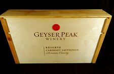 GEYSER PEAK RESERVE CABERNET 2000 Complete Wood Wine Crate Empty Box with Label