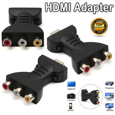 HDMI to 3 RCA Full HD Video 1080P AV Scart Composite Converter Adapter Pu