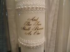 """12"""" White Unity Candle - Lillian Rose - Pearl accents"""