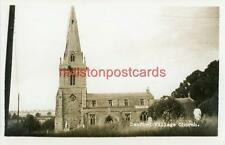 REAL PHOTOGRAPHIC POSTCARD OF DENFORD CHURCH, (NEAR KETTERING), NORTHAMPTONSHIRE