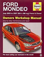 Ford Mondeo Haynes 4619 Manual 2003-07 1.8 2.0 2.5 3.0 Petrol 2.0 2.2 Diesel