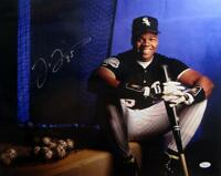 Frank Thomas Autographed White Sox 16x20 Posed Photo- JSA Witness Auth
