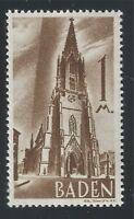 Baden 1947, Französische Zone, 1 M, Mi Nr.13 mit Plattenfehler Postfrisch