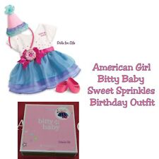 American Girl Bitty Baby Sweet Sprinkles Birthday Outfit NEW IN BOX