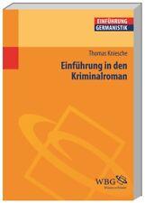 Thomas Kniesche Einführung in den Kriminalroman