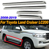 Chrome Door Body Side Molding line Trim For Toyota Land Cruiser LC200  ✯  z