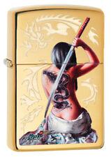 Zippo Lighter ⁕ Mazzi Dragon Tattoo Girl Sexy ⁕ 60004314 ⁕ Neu New OVP ⁕ A545