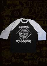 NEW!! BLACK SABBATH 1 PUNK ROCK 3/4 LENGTH SLEEVE RAGLAN BASEBALL SHIRT B/G MENS