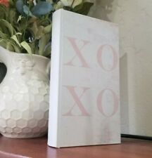 Book Box Hidden Jewelry Secret Fake Faux Storage Treasure-  White Pink XOXO
