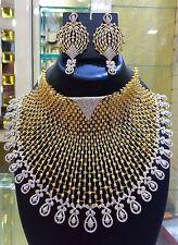 Indian Bollywood AD Wedding Bridal Fashion Jewelry Necklace Set