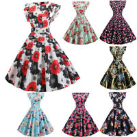 Women Vintage Swing 50s Housewife Casual Evening Party Prom Dress