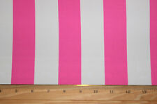 "Hotpink/White 1 1/2 ""Stripes Lycra/Spandex 4 way stretch Fabric By The 1/2 Yard"