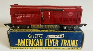 Vintage AMERICAN FLYER S GAUGE MISSOURI PACIFIC CATTLE CAR #629.  SEE PHOTOS