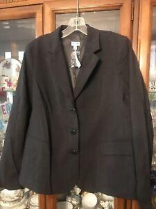 $225 A Pea In The Pod Blazer Gray Jacket Maternity Stretch Career Medium NWT