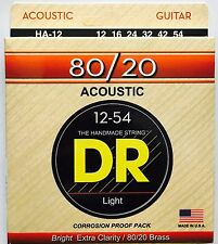 DR HA-12 Hi-Beam 80/20 Acoustic Guitar Strings 12-54 medium